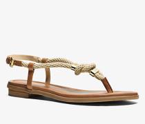 Sandale Holly aus Leder mit Seildetail