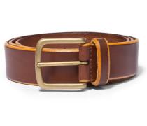 Burnished Leather Belt Brown