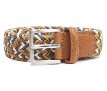 Elastic Braided Belt Sand/Copper/Blue/White
