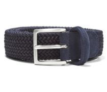 Elastic Braided Belt Navy