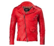 DUCATI Sahariana Leather Jacket Rosso Gun