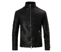 DUCATI Biker Leather Jacket Nero Gun