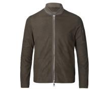 Lamb Leather Jacket Verde Fango