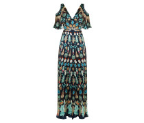 Quartz Printed Long Dress, Midnight