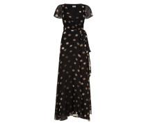 Velvet Star Wrap Dress