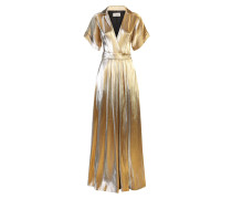 Liquid Metal Wrap Dress - Eveningwear