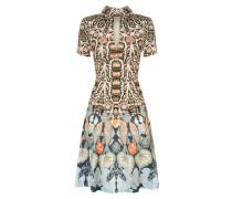 Spiral Printed Mini Dress, Midnight Mix