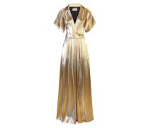 Liquid Metal Wrap Dress