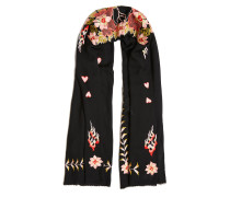 Rosy Embroidered Shawl