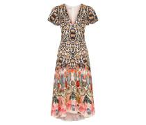Spiral Printed Dress, Cinnamon Mix