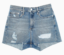 Distressed Denim-Shorts