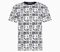 Relaxtes T-Shirt mit Allover Print