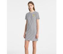 Gestreiftes Jersey-Mini-Kleid