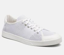 Sneakers aus Leder und Strickgewirk