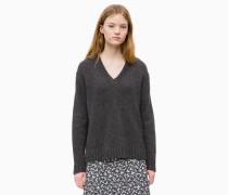 Sweater mit V-Ausschnit aus Alpaka-Wollgemisch