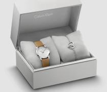 Armbanduhr und Armband Geschenkset