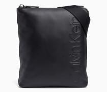 Flache Crossover-Bag aus Leder
