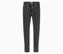 Knöchellange CKJ 030 High Rise Straight Jeans