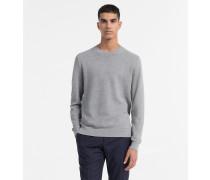Strukturierter Sweater aus Baumwoll-Woll-Mix