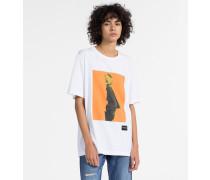 Bedrucktes Boyfriend-T-Shirt