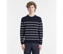 Gestreifter strukturierter Sweater