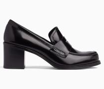 Loafers aus Leder mit Absatz