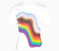 Gerades Regenbogen-T-Shirt aus Bio-Baumwolle