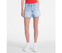 High-Rise Denim-Shorts