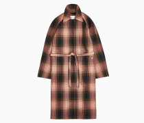 Karierter Trench Coat aus recyceltem Polyester