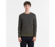 Strukturierter Sweater aus Wolle und Baumwolle