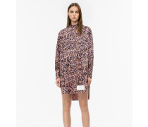Hemdkleid aus bedruckter Baumwolle