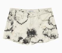 Denim-Shorts in Batikfärbung
