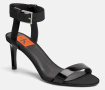 Lackleder-Sandalen mit Absatz