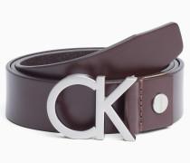 CK Ledergürtel mit Schnalle