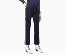 CKJ 030 High Rise Straight Jeans mit Seitenstreifen