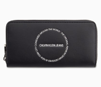 Portemonnaie mit breitem doppeltem Rundum-Reißverschluss