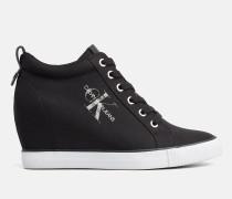 Sneakers aus Nylon mit Keilabsatz