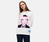Sweatshirt mit Warhol-Portrait