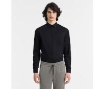 Tailliertes Hemd aus Stretch-Popeline