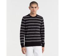 Streifen-Sweater aus Baumwolle