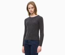Rippstrick-Sweater aus Alpaka-Wollgemisch