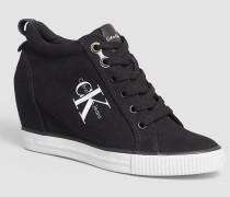 Canvas-Sneakers mit Keilabsatz