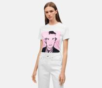 T-Shirt mit Warhol-Portrait