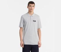 Schmales Poloshirt aus Baumwoll-Piqué