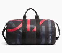 Zylinderförmige Logo-Duffle-Bag