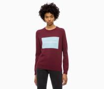 Logo-Sweater aus Baumwoll-Woll-Mix