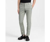 Taillierte Hose aus Baumwolltwill