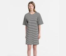 Gestreiftes Milano-Jersey-Kleid