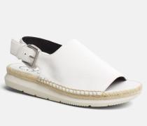 Sandalen aus Satin-Canvas