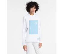 Sweatshirt mit geometrischem Vinyl-Motiv